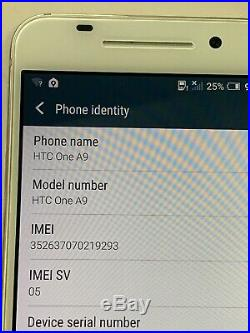 Lot of 4 HTC One A9 2PQ9120 32GB AT&T Smartphones AS-IS GSM (Light Burn Marks)