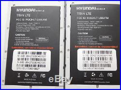 Lot of 4 Hyundai Mobile Titan LTE 16GB GSM Unlocked Smartphones AS-IS GSM