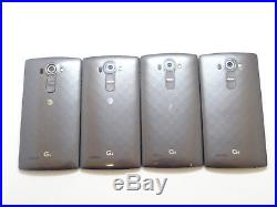 Lot of 4 LG G4 H810 AT&T Smartphones Good Charger Port AS-IS GSM
