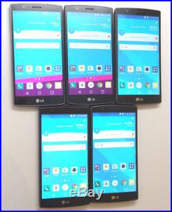 Lot of 5 LG G4 AS991 Smartphones 3 C-Spire All Good Charger Port AS-IS