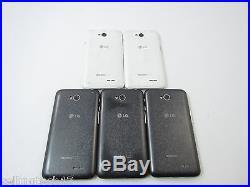 Lot of 5 LG Optimus L70 MS323 -White/Black (MetroPCS) QC5