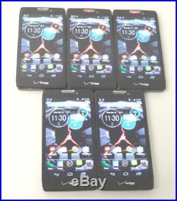 Lot of 5 Motorola Droid Razr Maxx HD XT926 Verizon Unlocked Smartphones AS-IS