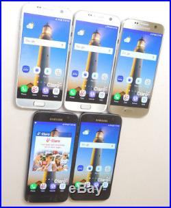 Lot of 5 Samsung Galaxy S7 SM-G930F 32GB Claro Smartphones AS-IS GSM