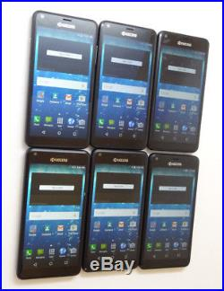 Lot of 6 Kyocera Hydro View C6742 Cricket Smartphones AS-IS
