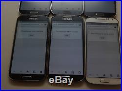Lot of 6 Samsung Galaxy S4 16GB U. S Cellular SCH-R970 Smartphones AS-IS CDMA