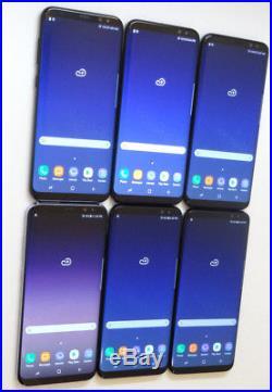 Lot of 6 Samsung Galaxy S8+ GM-G955U 64GB Xfinity Mobile Smartphones AS-IS GSM