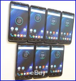 Lot of 7 Motorola Droid Turbo XT1254 32GB Verizon Unlocked Smartphones AS-IS GSM