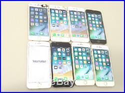 Lot of 8 Apple iPhone 6 A1586 16GB Unlocked Smartphones AS-IS GSM