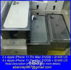 New Apple iPhone 11 Pro Max 512GB Gold (Unlocked) A2161 (CDMA + GSM)