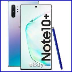 New Samsung Galaxy Note10+ 256GB Aura Glow 4G Android 12MP Unlocked Smartphone