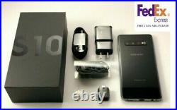 Samsung Galaxy S10 Sm-g973u 128gb Prism Black Unlocked Free Fedex 2 Day Shipping