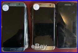 Samsung Galaxy S7 Edge (Sprint) SM-G925P, 4 Units, Returns, Clean IEMI, Power On
