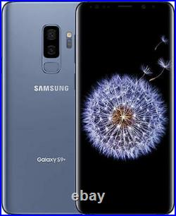 Samsung Galaxy S9+ G965U Blue 64GB T-Mobile Sprint AT&T Verizon Factory Unlocked