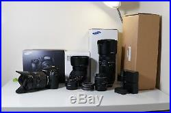 Samsung NX1 with lenses and accessories