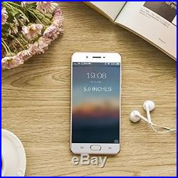 Unlocked Android Cell Phone Card Slot 5 inches 3500mAh Battery HD Camera R. Gold